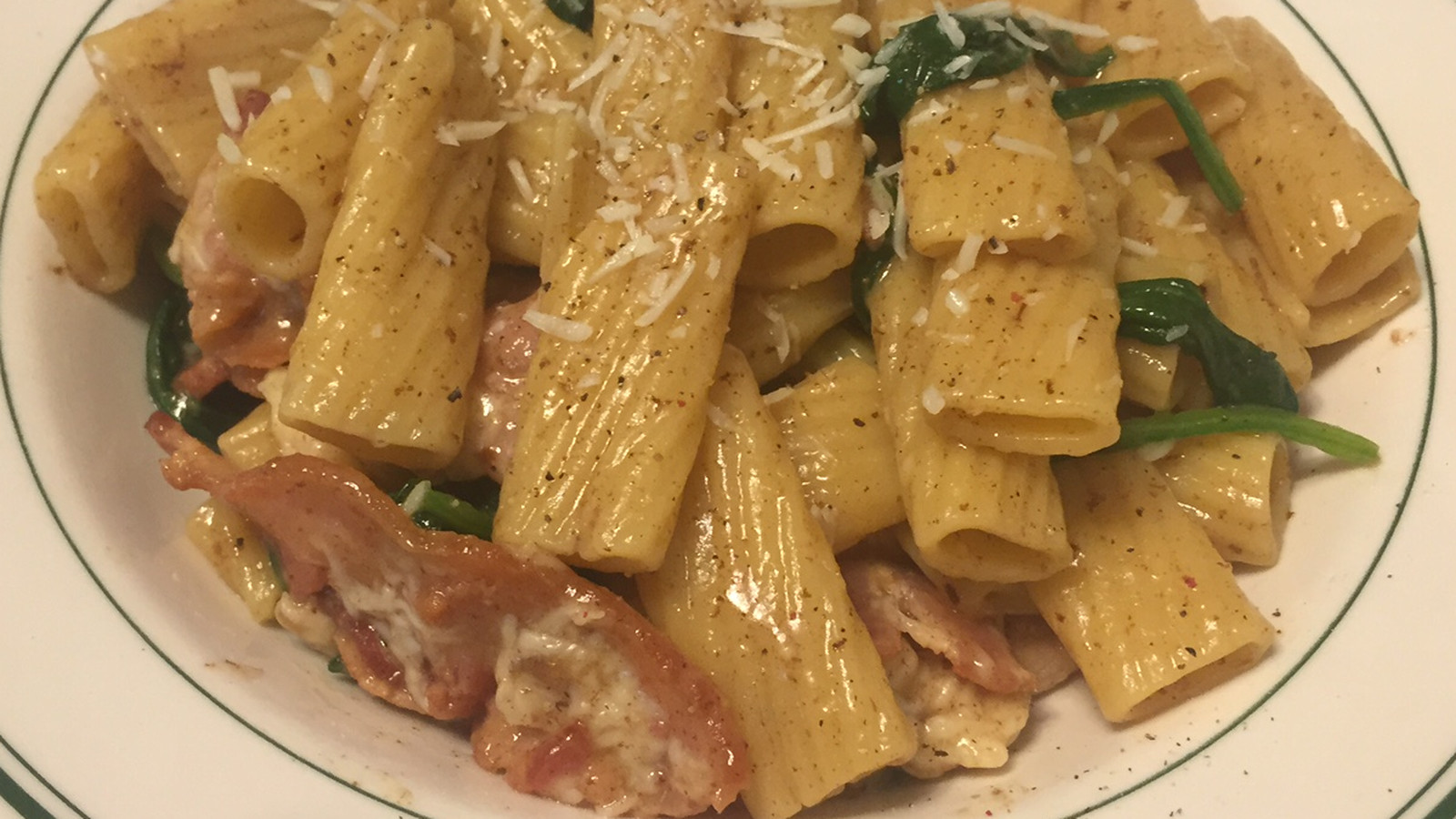 And the Valley Cooks: Bacon-Spinach-Parmesan Pasta