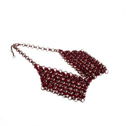 """<strong>Bobbles & Lace</strong> Chain and Suede Bib Necklace, <a href=""""http://shop.bobblesandlace.com/WEBF12-NEC-CHNBIB-.html"""">$35</a>"""