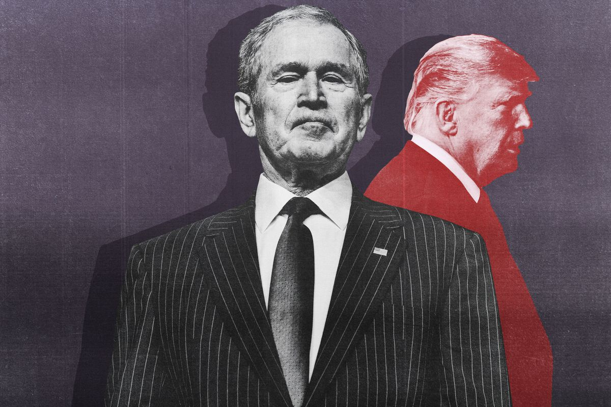 how we see george w bush in the time of trump the ringer