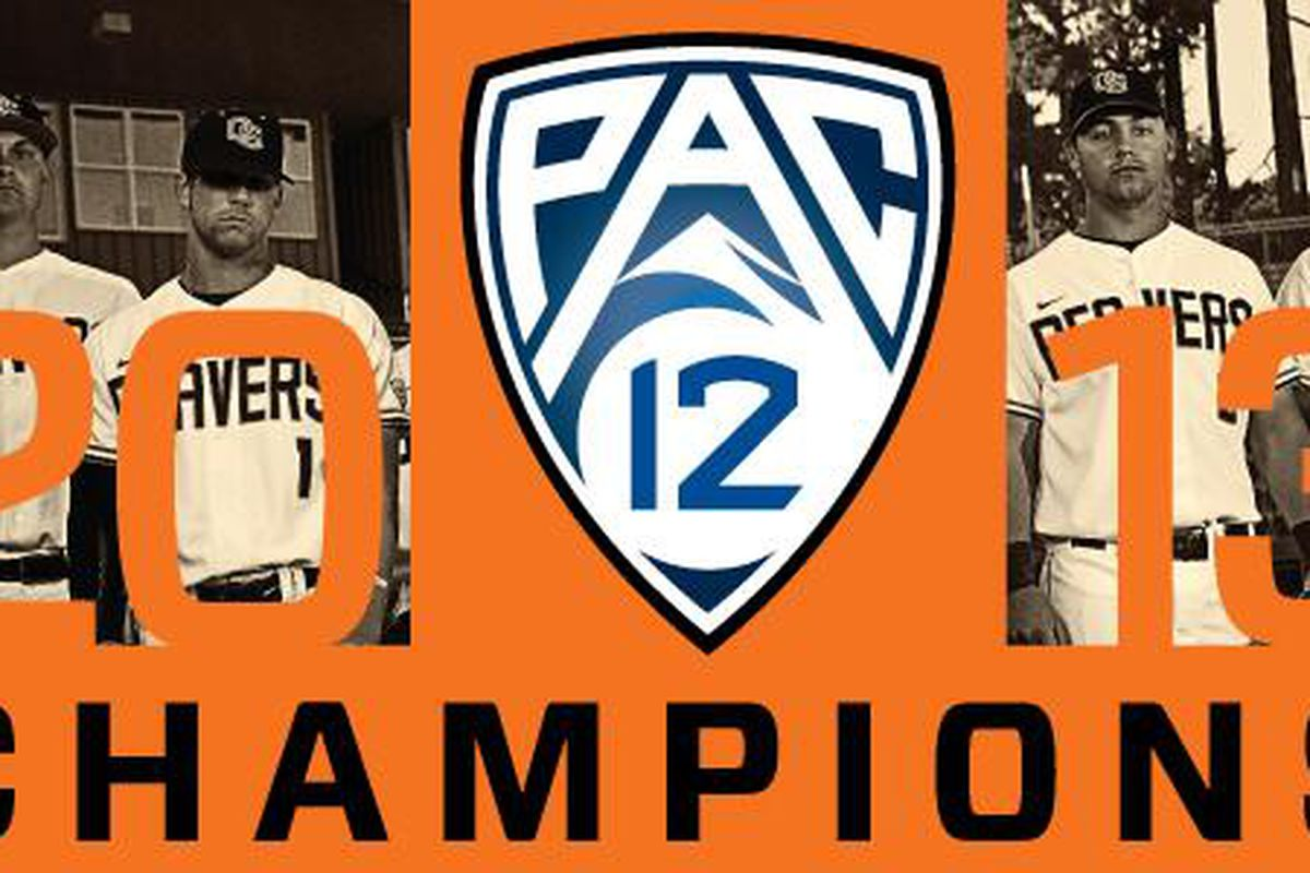 Oregon St. claimed the 2013 Pac-12 Championship by 2 games with Sunday's comeback win over Washington St.