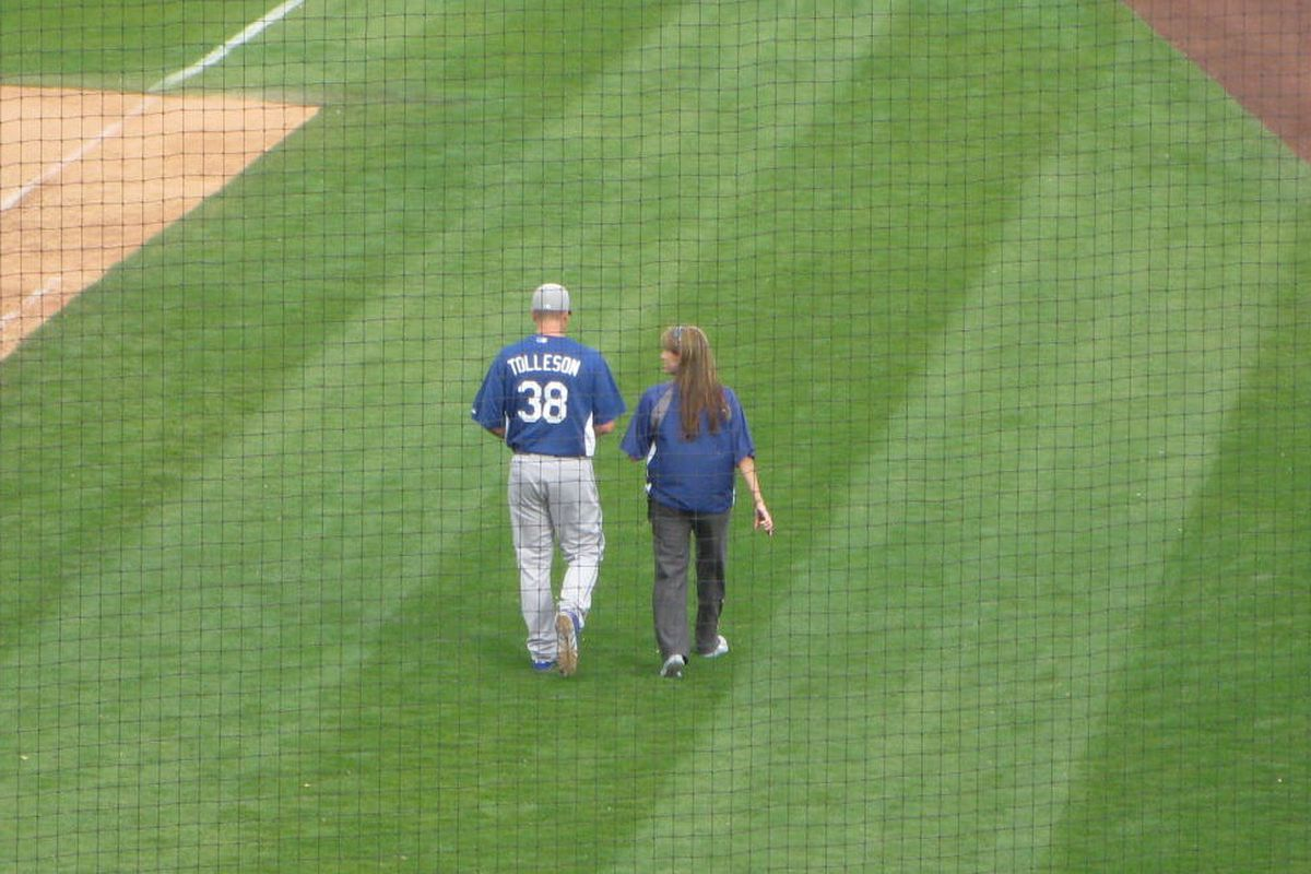 This picture was Mar. 5; imagine that same shot today, only with Tolleson walking to the locker room by himself.