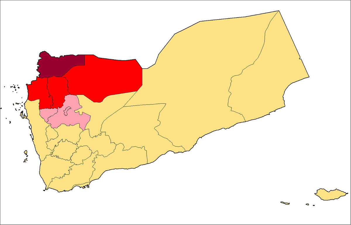 houthi controlled territory in Yemen as of 2010