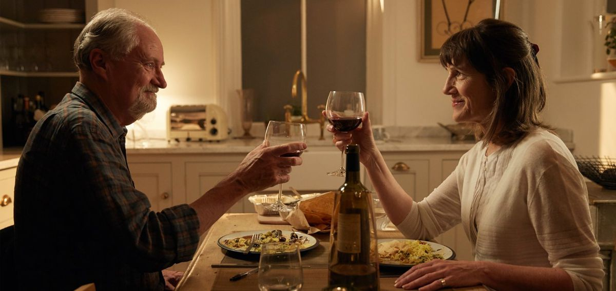 Jim Broadbent and Harriet Walter in The Sense of an Ending