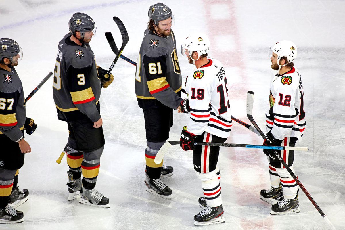 NHL: Stanley Cup Playoffs-Chicago Blackhawks at Vegas