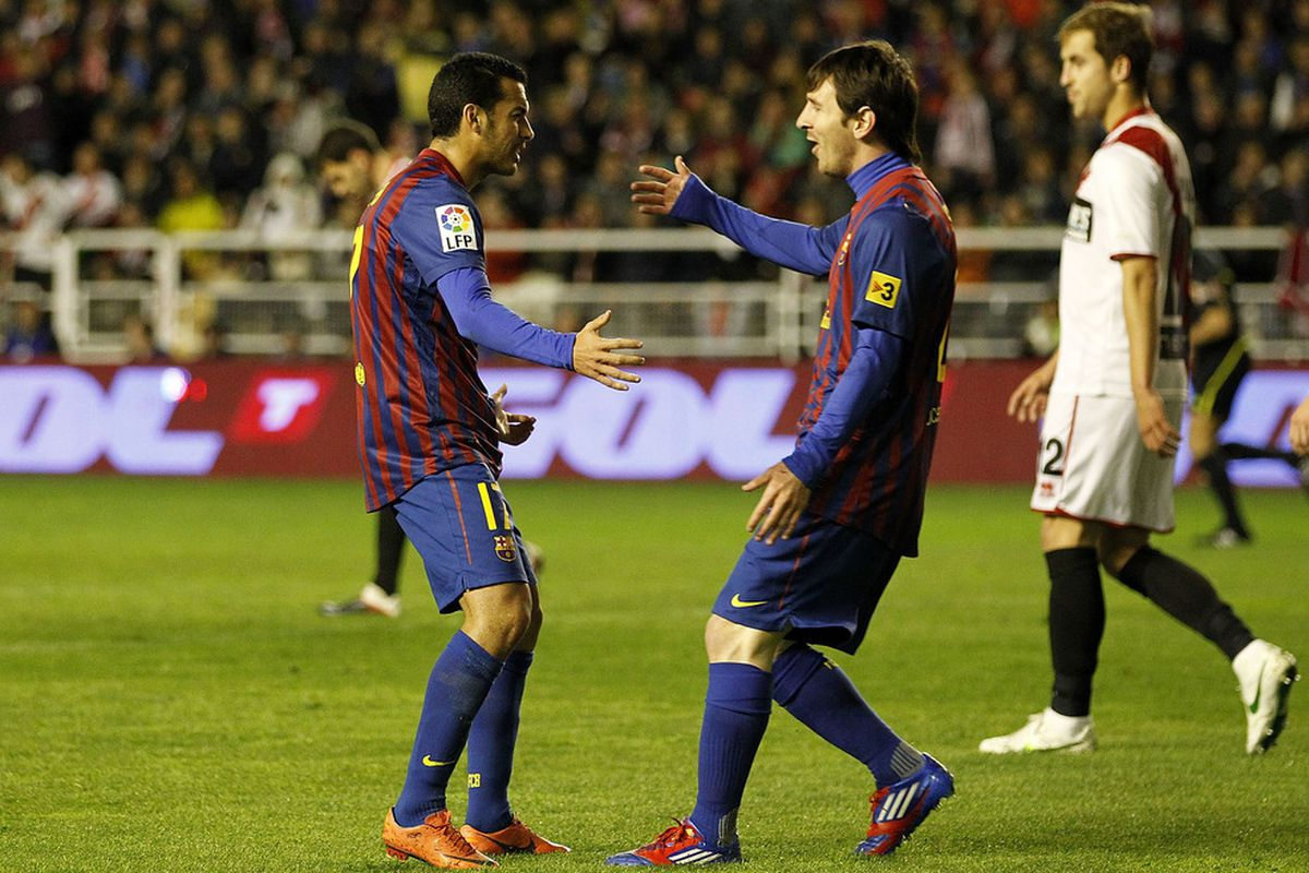 Messi and Pedro each assisted the other's brace