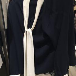 Goen J. bowtie blouse, size small, $123.60 (was $448)