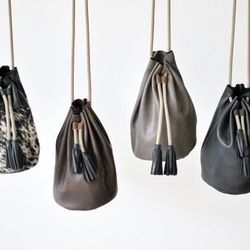 """Eleven Thirty Shop Christie bucket bag, <a href=""""http://eleventhirtyshop.com/new-in-shop/christie-chestnut"""">$160</a> at The Rising States"""