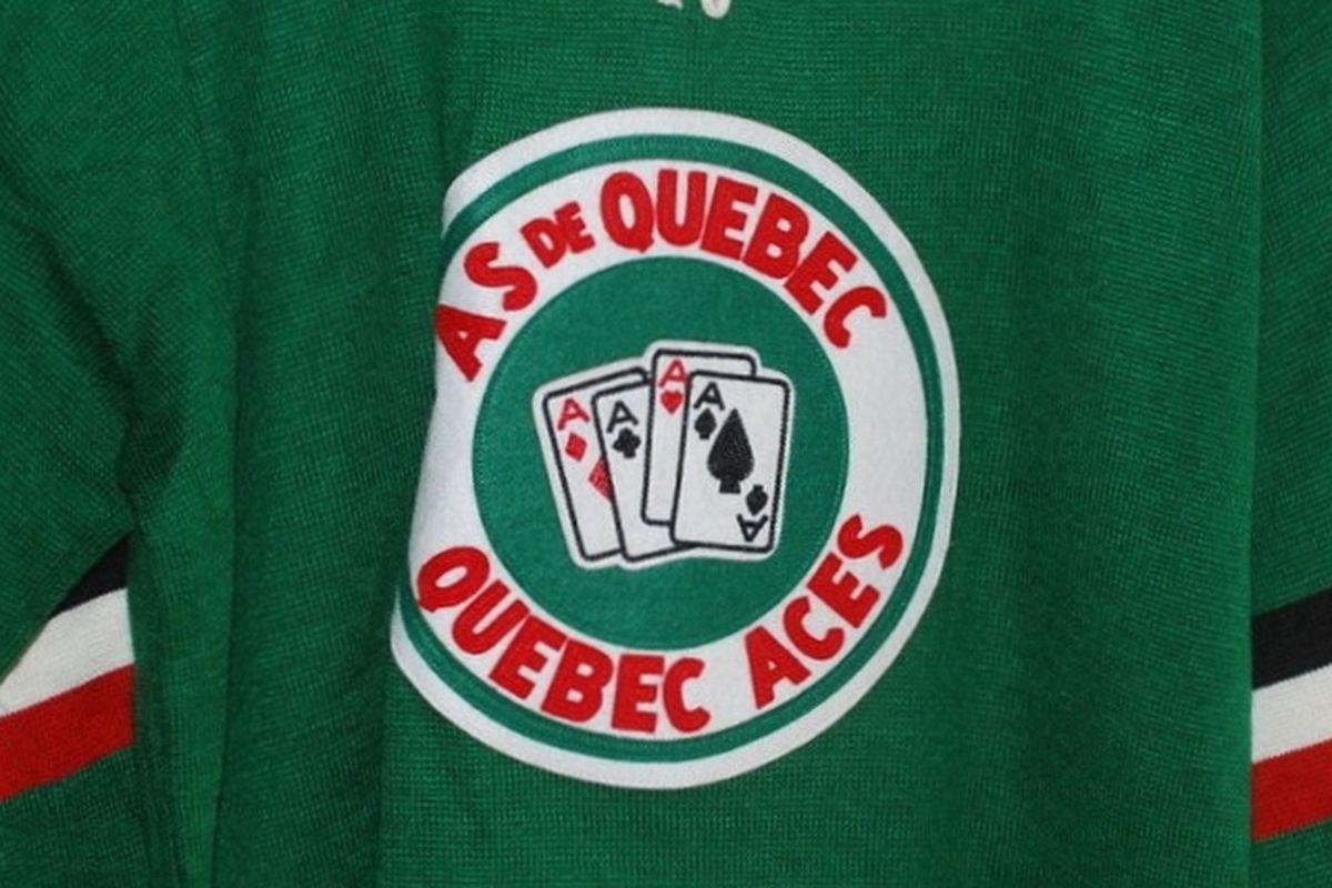 d272f8fe2 Quebec Aces sweater (Ebbets Field Vintage) circa 1952 Rick Ackerman