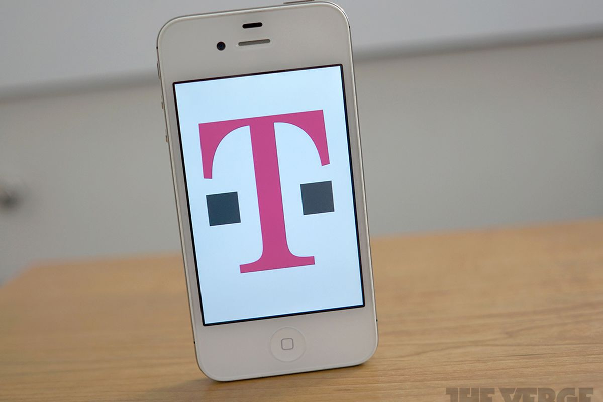 Apple iPhone with T-Mobile logo