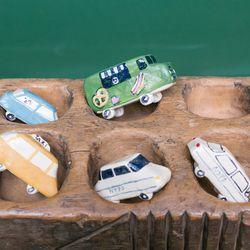 Charlotte Mei glazed ceramic cars, $68