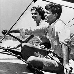 "Aboard Manitou, JFK's yacht, via <a href=""http://www.ivy-style.com/ivy-trendwatch-jfk-inspired-ivy-league-shorts.html"">Ivy Style</a>"