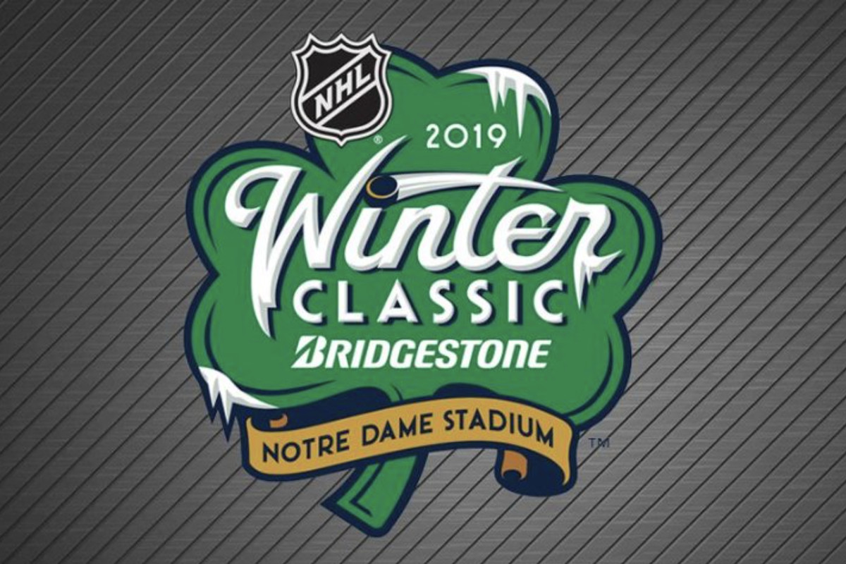 Chicago Blackhawks Unveil 2019 Winter Classic Logo For Game At Notre Dame  Stadium f7f721e00