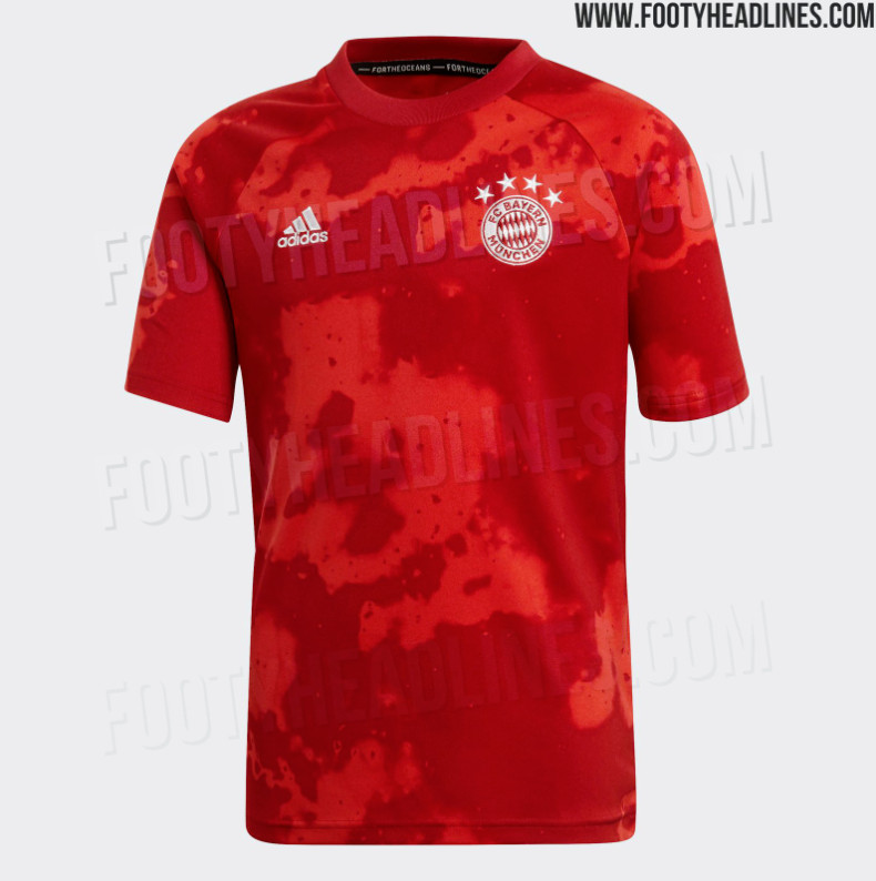 22c76614a19 KIT LEAK: New pictures of Bayern Munich's 2019/2020 pre-match top ...