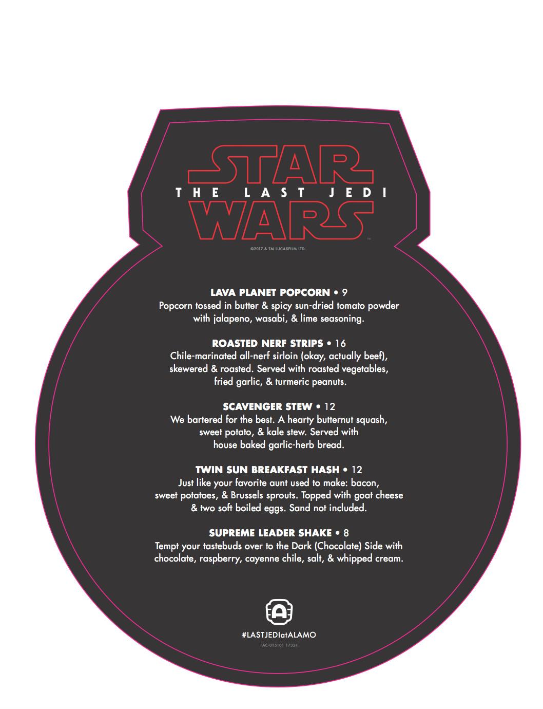 Back of the BB-9E menu