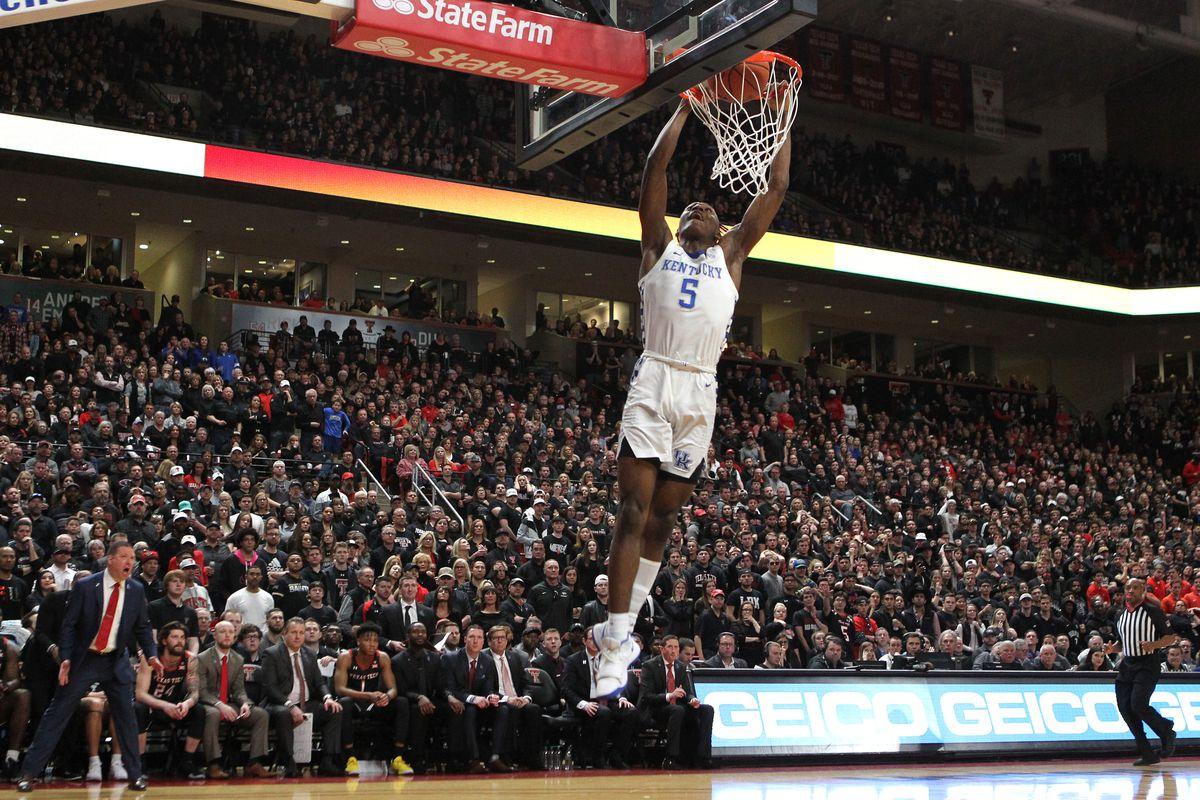 NCAA Basketball: Kentucky at Texas Tech
