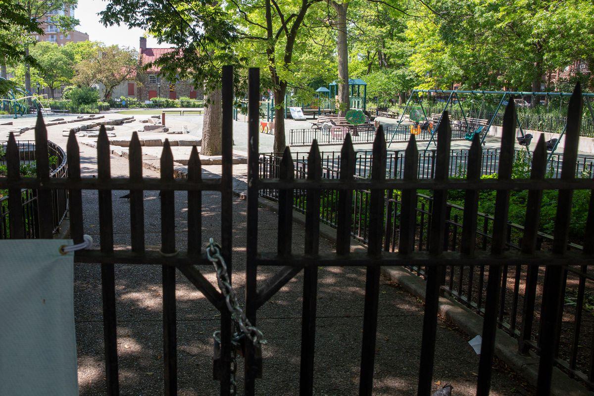 J.J. Byrne Playground on Fifth Avenue in Park Slope, June 9, 2020.