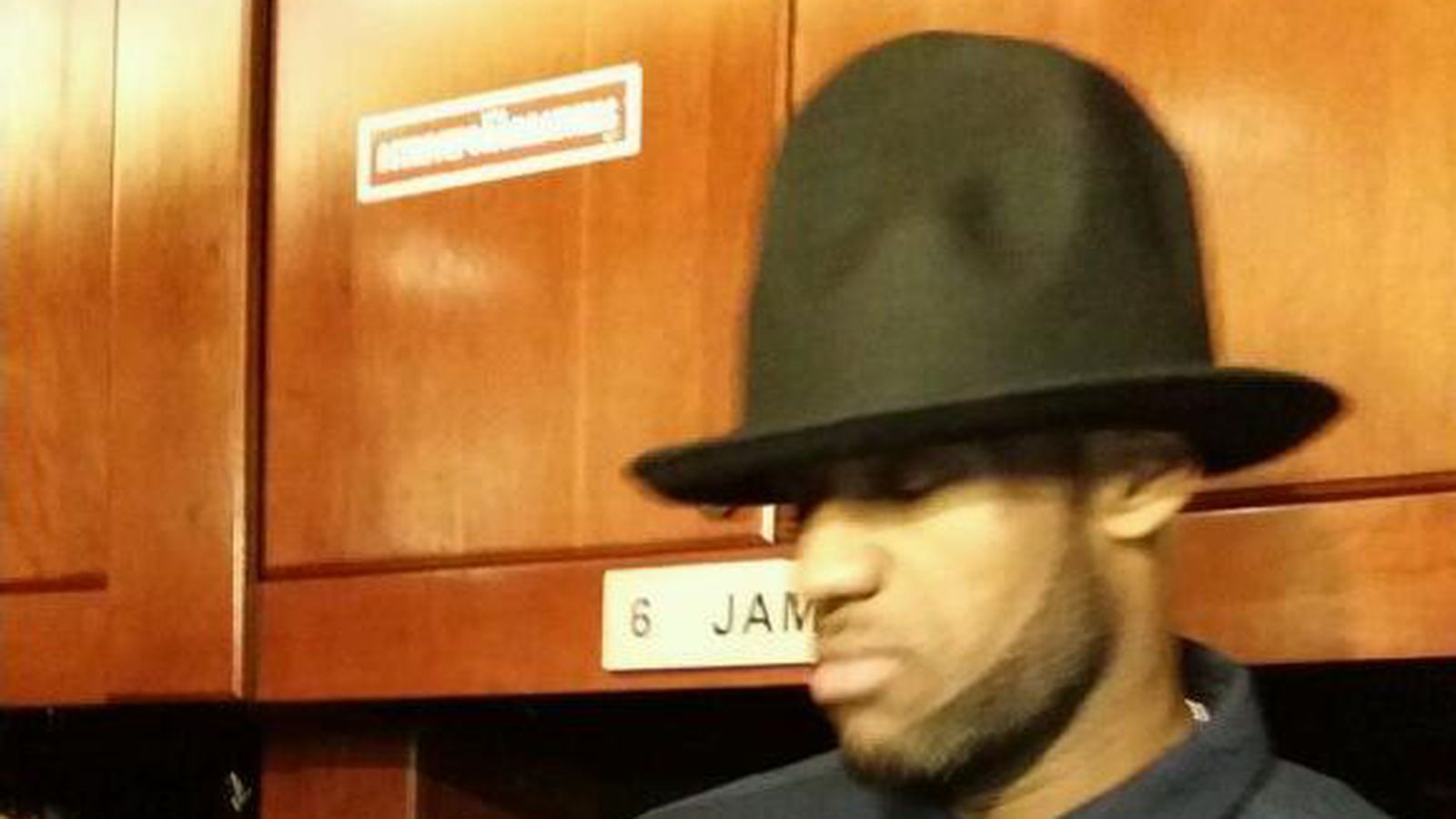 Lebron Rocks Pharrell S Goofy Big Hat In Locker Room In