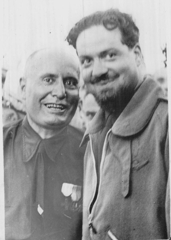 Italo Balbo with Italian dictator Benito Mussolini.
