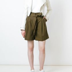 Pleated shorts with a tie front are an update on safari wear we can get behind.