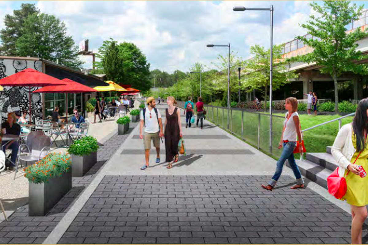 """A segment of the Chamblee trail envisioned as """"Restaurant Row."""""""