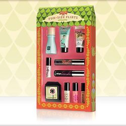 Miniature makeup products are irresistible and this <b>Benefit Fun-Size Flirts</b> set will win over any beauty addict.  Combined with cheeky product names and creative packaging, this assortment of Benefit's products that will leave anyone wanting more.