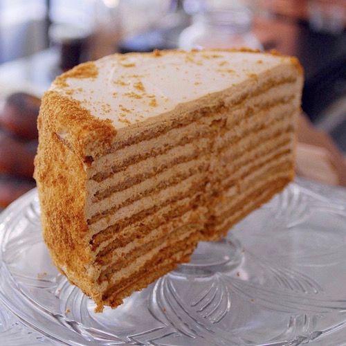 Honey cake at 20th Century Cafe