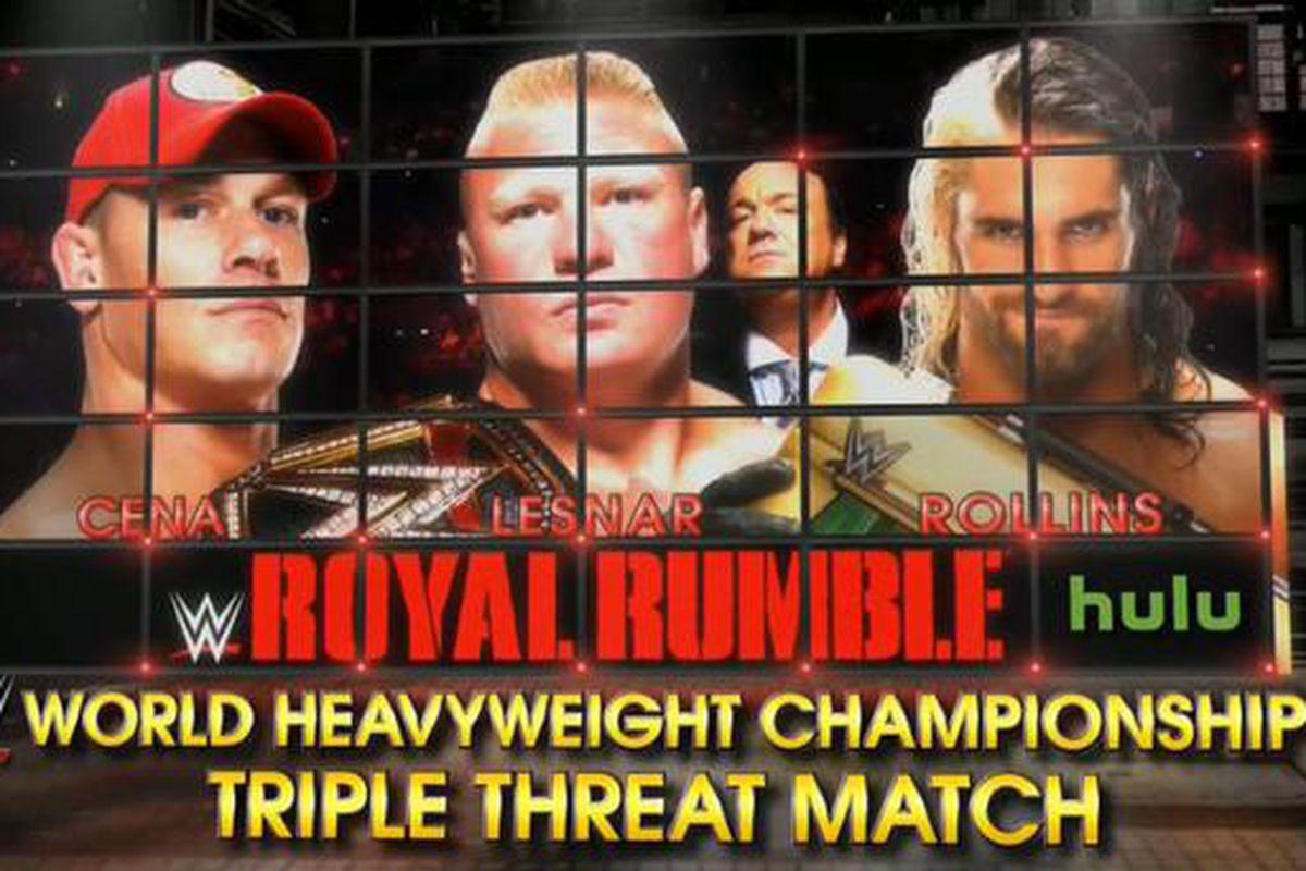 wwe royal rumble 2015 seth rollins added to john cena vs brock