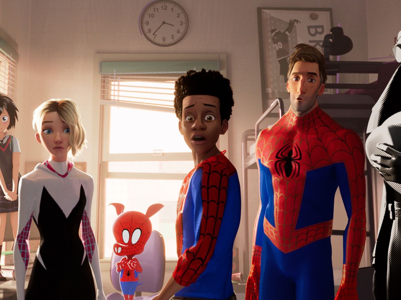 spider-man: into the spider-verse's after credits scene, explained