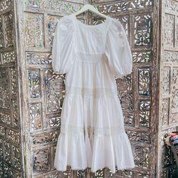 Vintage Peasant Dress