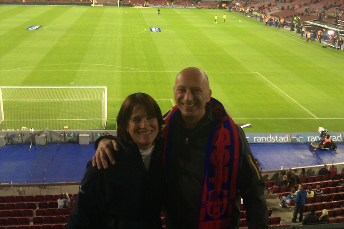 Never mind that I was at the Nou Camp in Barcelona ... the show needed to go on.