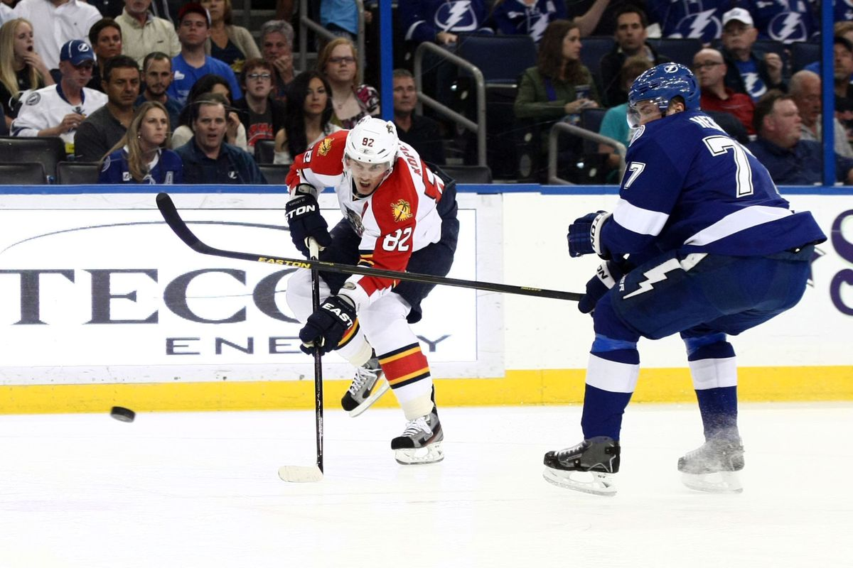 Tomas Kopecky set up two goals in the preseason loss to the Lightning.