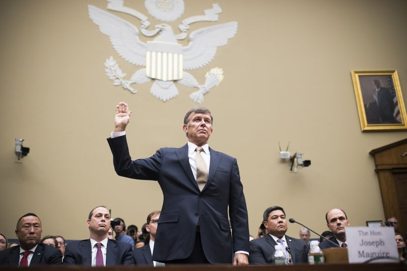 Joseph Maguire, acting director of national intelligence, is sworn in.