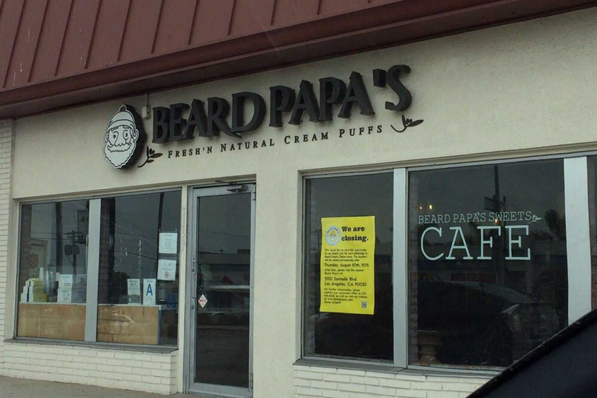 The now-closed Beard Papa's in Palms