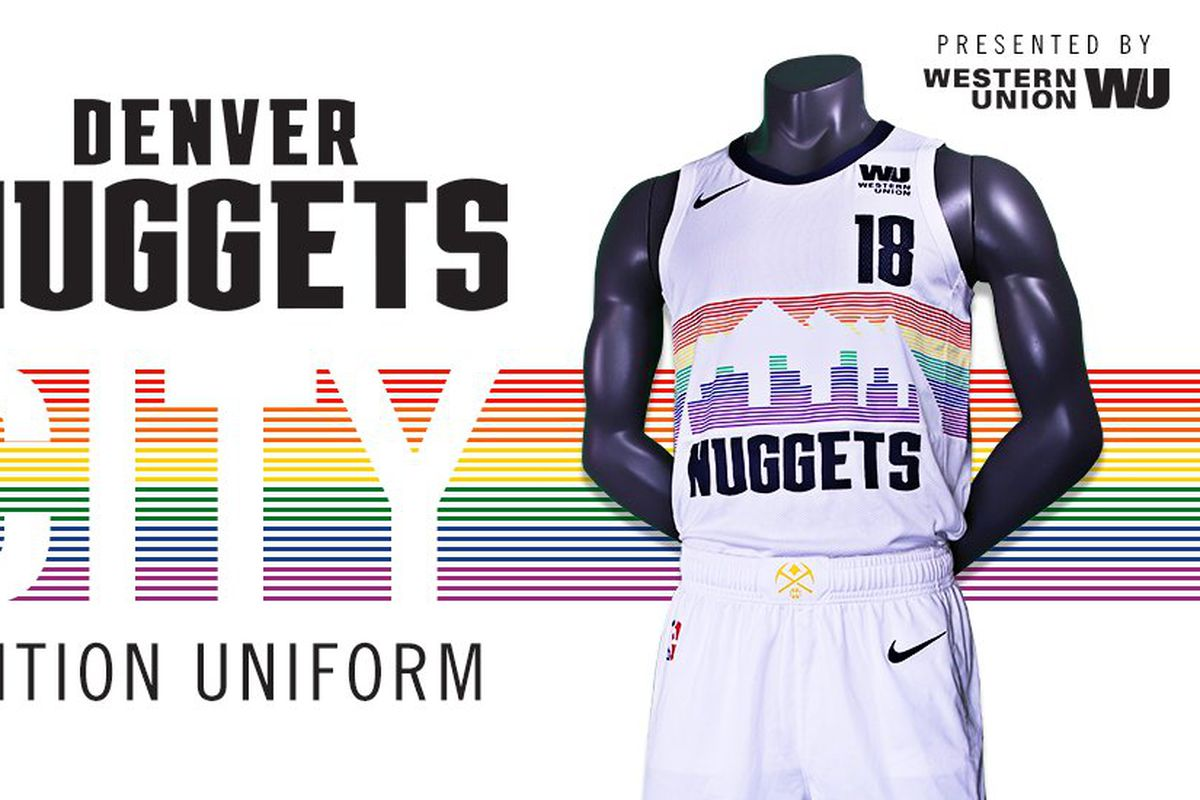 092ef9704bd MUST SEE: The Denver Nuggets have brought back the Rainbow Skyline jersey!!!