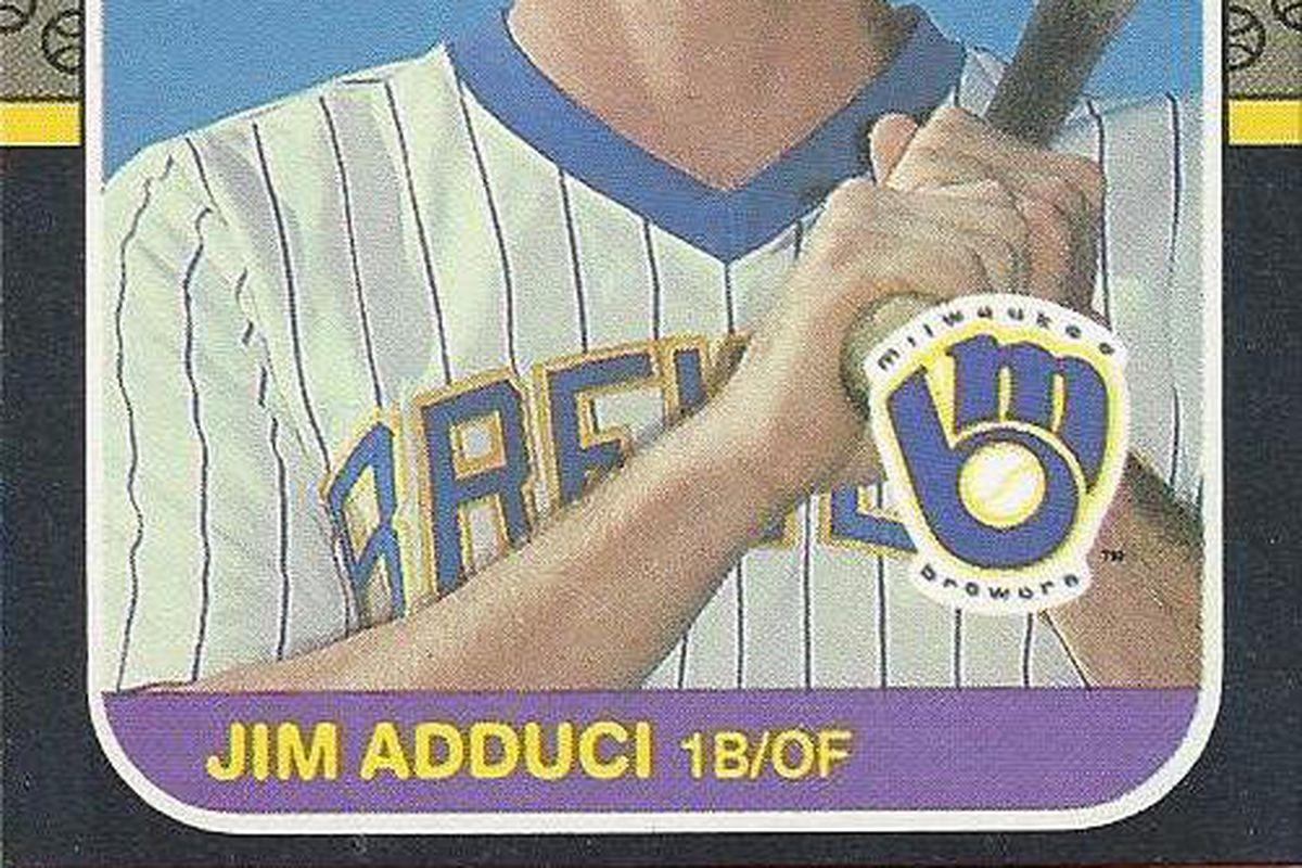 Jim Adduci's 1987 Donruss card.