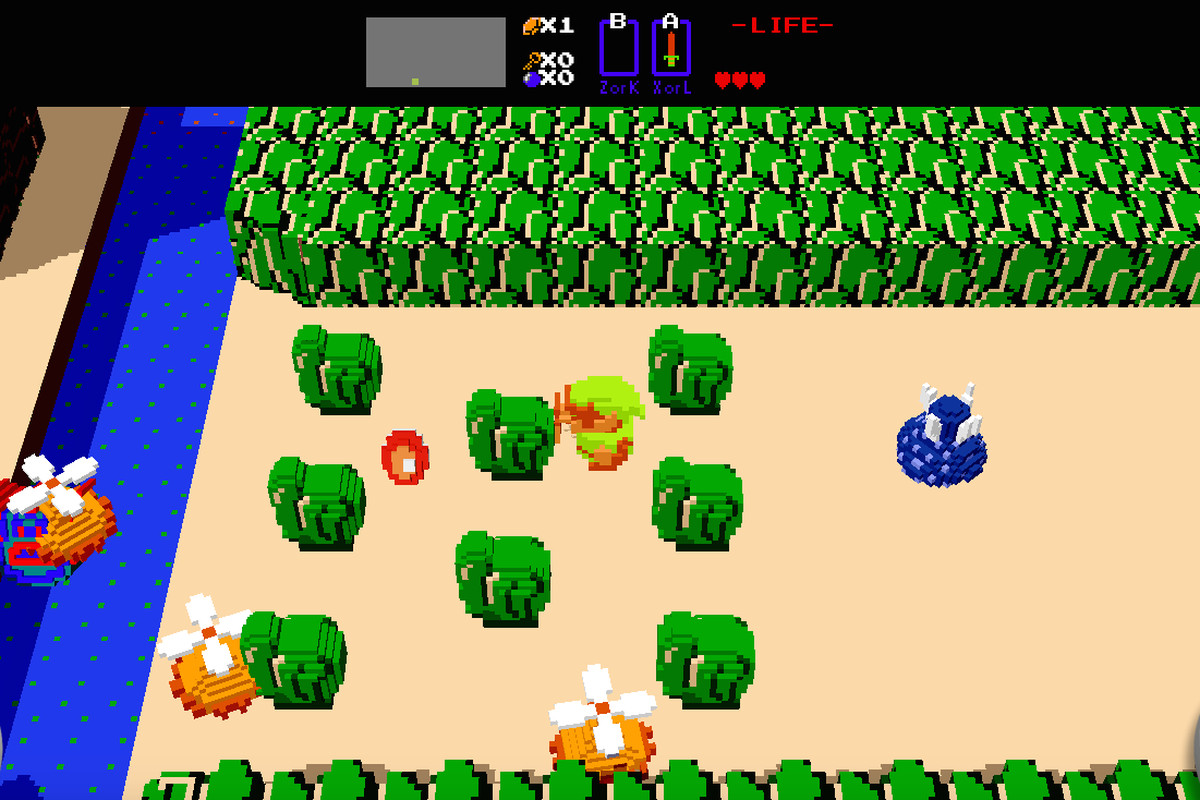 Play a 3D version of the original Zelda in your browser - The Verge