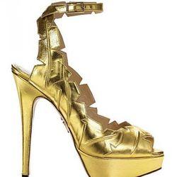 Leaf Me Alone Sandal (Gold): $1,445