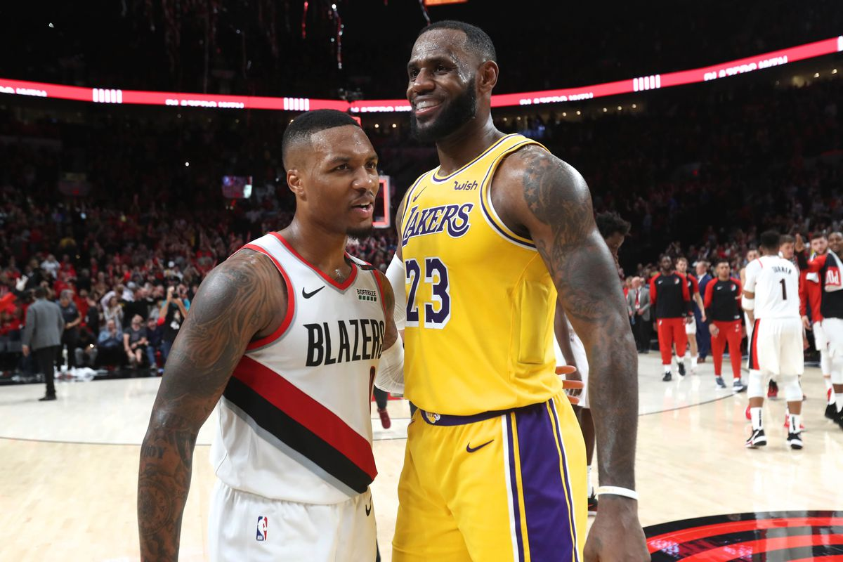 sports shoes 26e5d 56602 Lakers News: Damian Lillard says LeBron James is best player ...