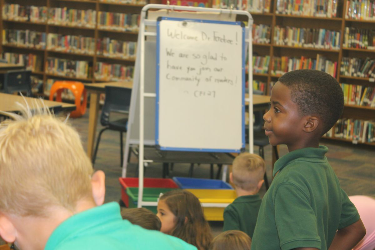 Ferebee visited CFI School 27 as part of two publicized back-to-school visits.