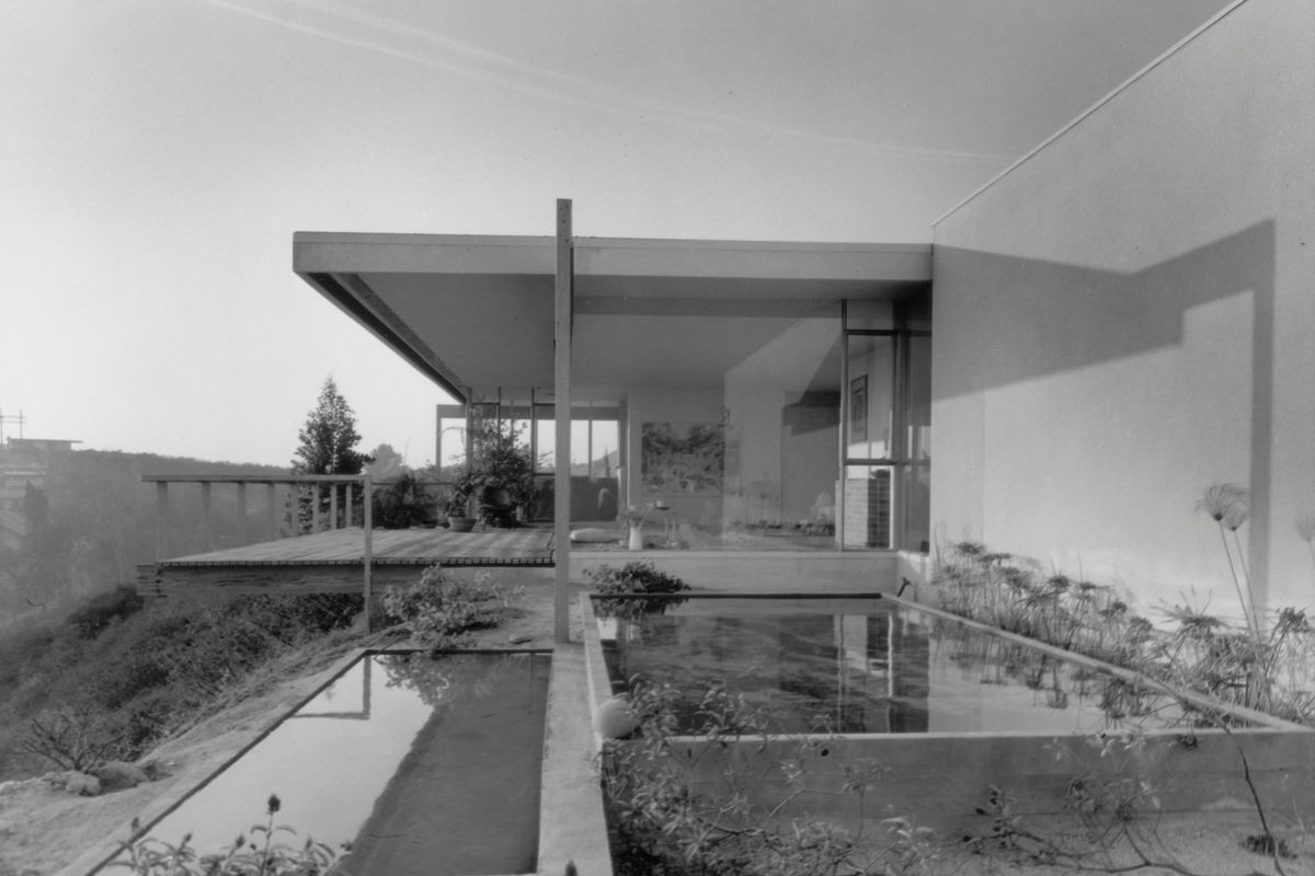 Exterior view of Chuey residence