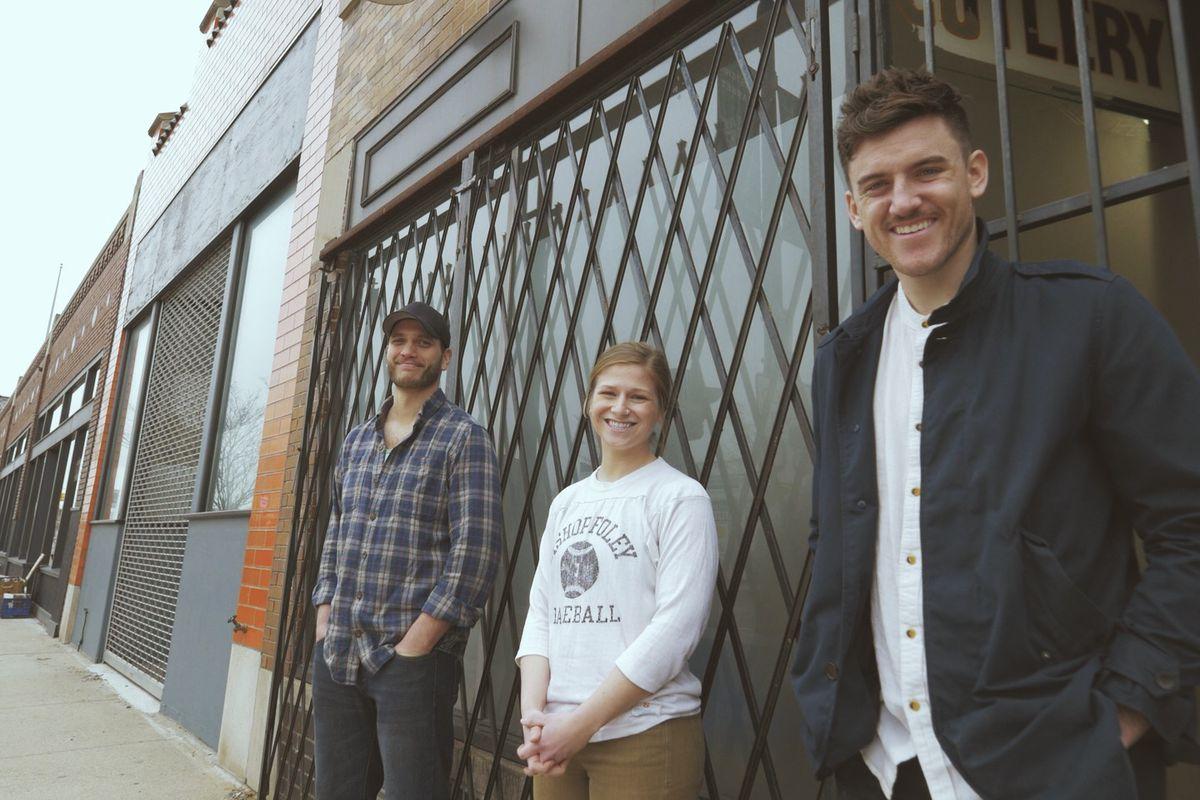 Nate Vogeli (Left), Leah Hunt, and Kyle Hunt have secured a restaurant space on Gratiot Avenue near Eastern Market.