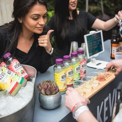 Not feelin' a signature cocktail? Attendees in The Deep end also got to enjoy lots of delicious Kevita Kombucha!