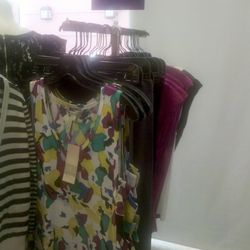 Colorful tanks at the BCBGirls Outlet