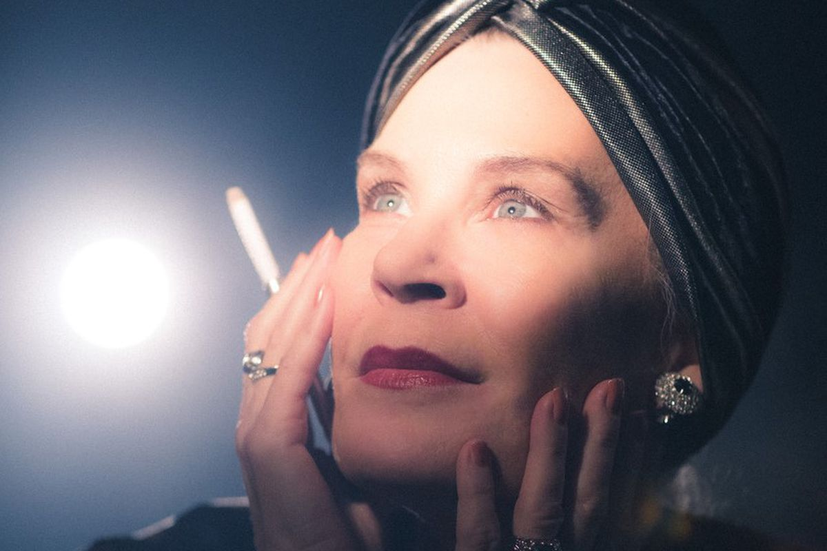 Hollis Resnik ready for her close-up in 'Sunset Boulevard' at Porchlight