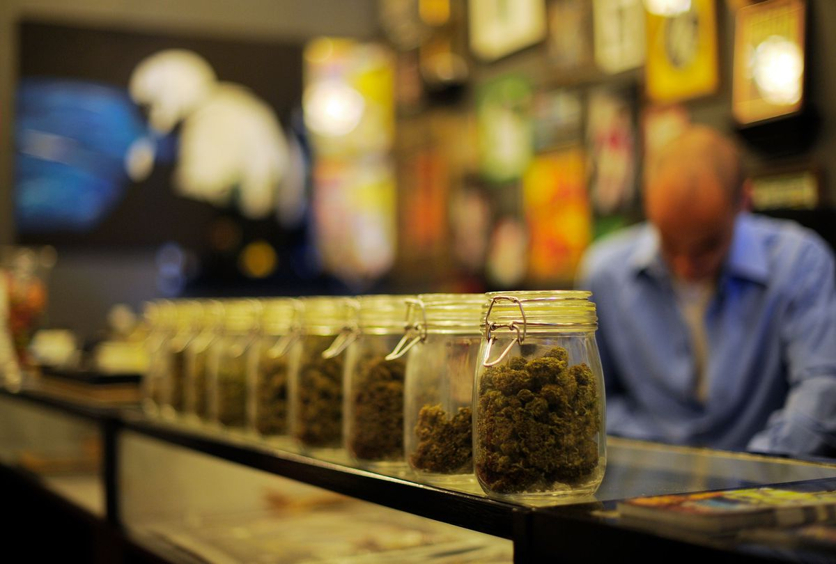 A marijuana dispensary in California.