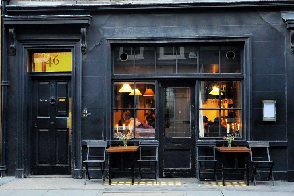 Exterior of Andrew Edmunds restaurant in Soho