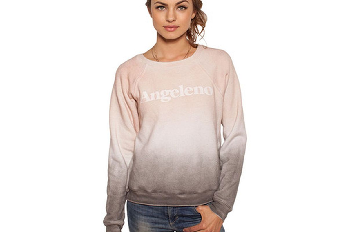 """35mm Clothing 'Angeleno' Jenna Sweater in Smoggy Sunset, <a href=""""http://www.35mmclothing.com/fall/jenna-angeleno-smoggy-sunset/"""">$70</a>"""