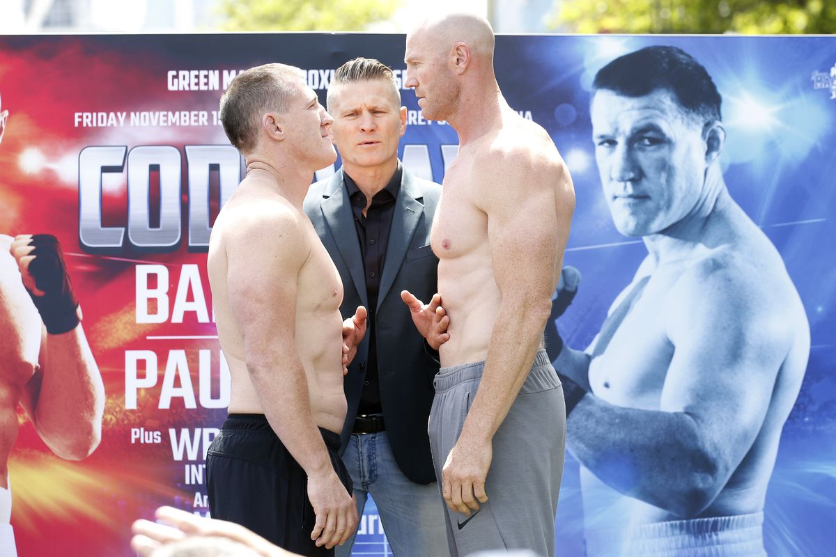 Barry Hall v Paul Gallen Official Weigh In