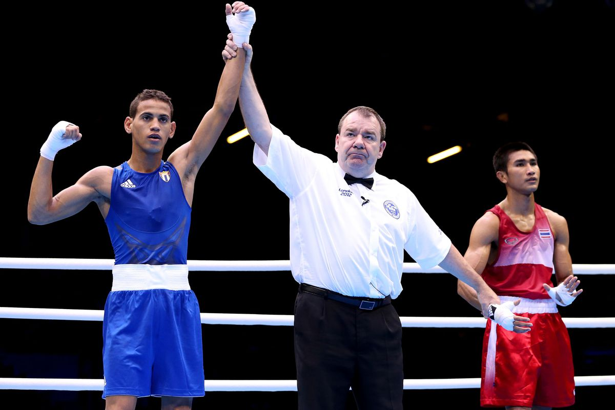 18-year-old Cuban flyweight Robeisy Ramirez continued his domination in London, knocking off Ireland's Michael Conlan in the semifinals. (Photo by Scott Heavey/Getty Images)