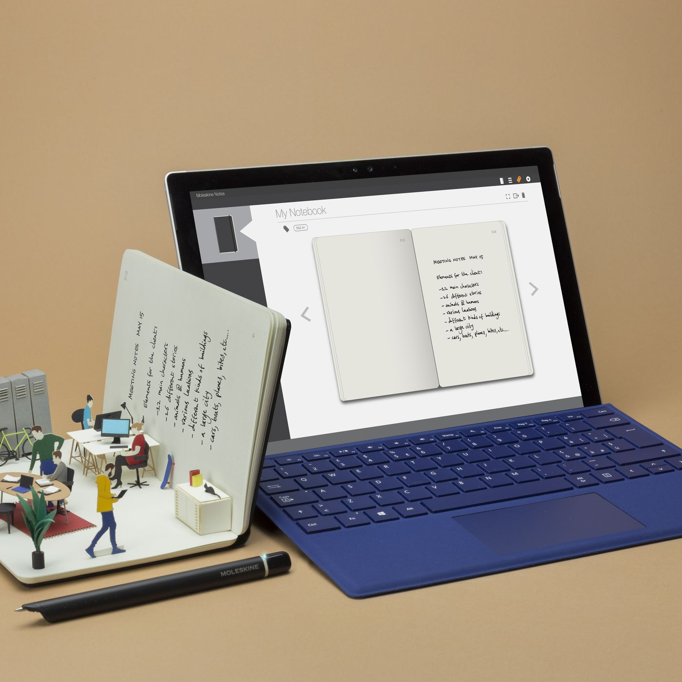 Moleskine S Smart Writing Set Digitizes Your Notes For Windows 10 The Verge